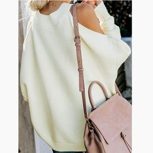 New Sexy Cold shoulder Oversized Sweater